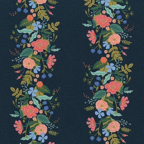 Floral Vines -Dark Blue