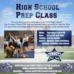 CCNW High School Prep Class promo