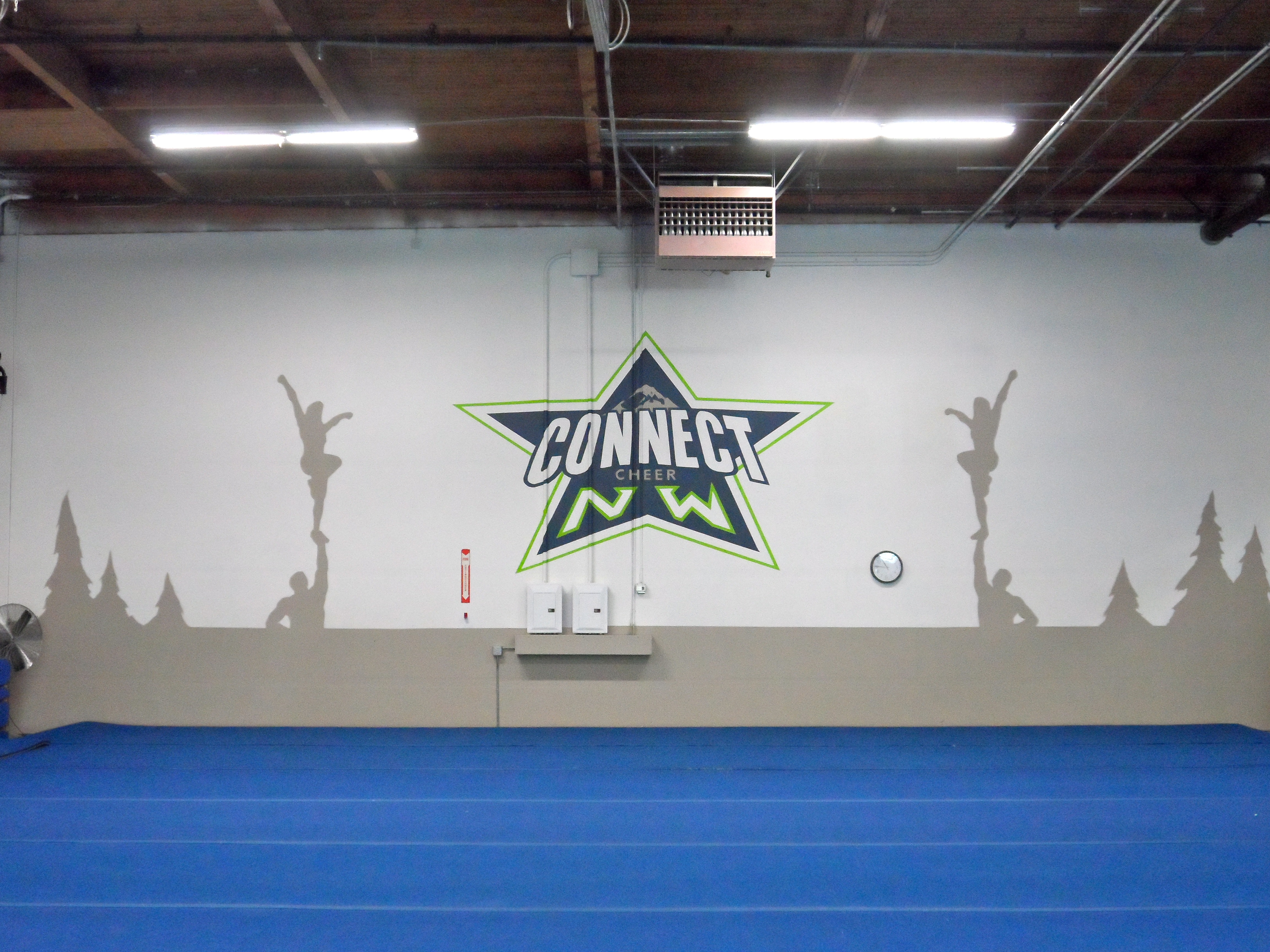 Connect Cheer NW Mural