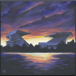Husky Stadium Sunset