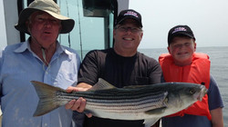 Men with Striped Bass