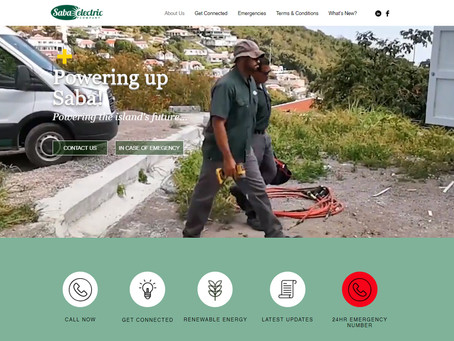 Saba Electric Company Launches New Website.
