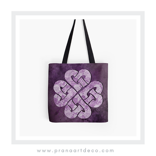 Hearts Celtic Knot on Tote Bag