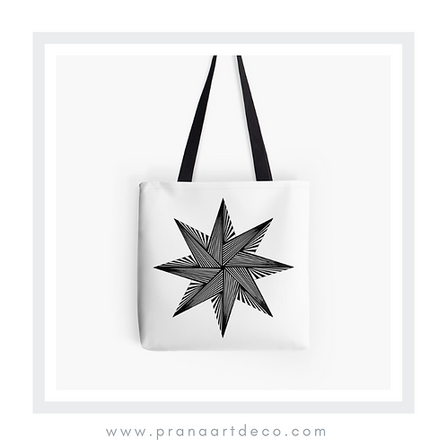 8 Pointed Star on Tote Bag