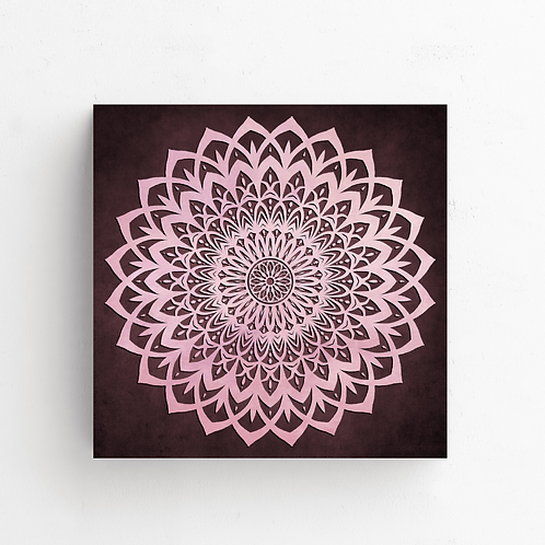 Pink & Brown Mandala Flower on Poster