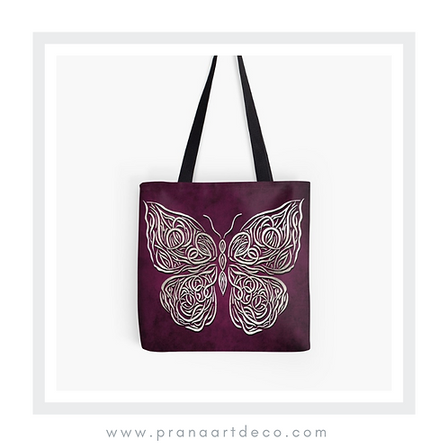 Celtic Butterfly on Tote Bag