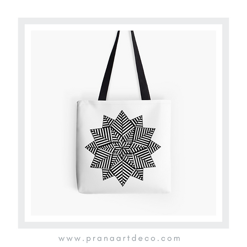 Nested 6 Pointed Stars on Tote Bag