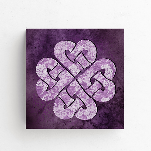 Hearts Celtic Knot on Poster