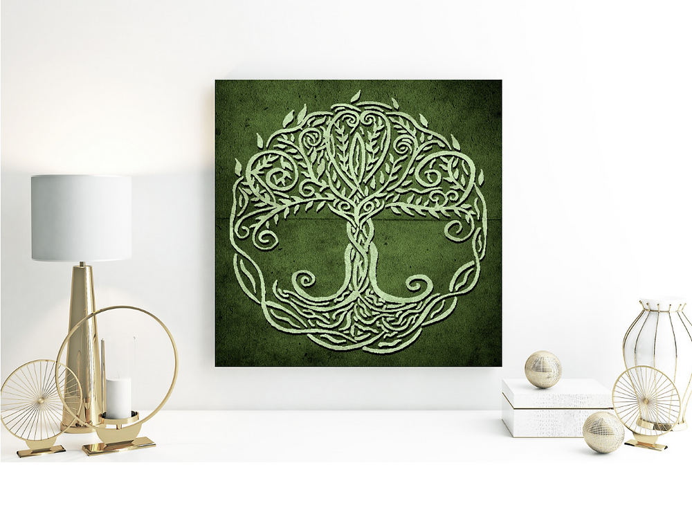 Green Tree Of Life, Celtic Design, Tree of life symbol, meaningful design, wall decor, poster