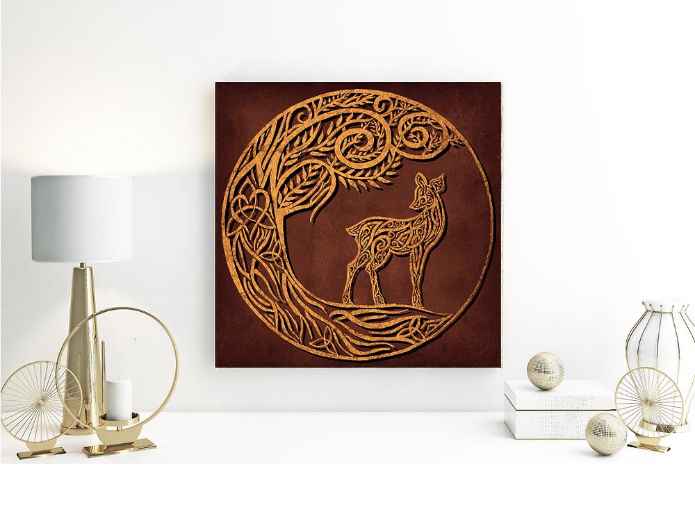 Celtic Doe, Celtic Deer, Celtic Design, Symbolism, Animal Spirit, Animal Totem, Unconditional Love, Animism
