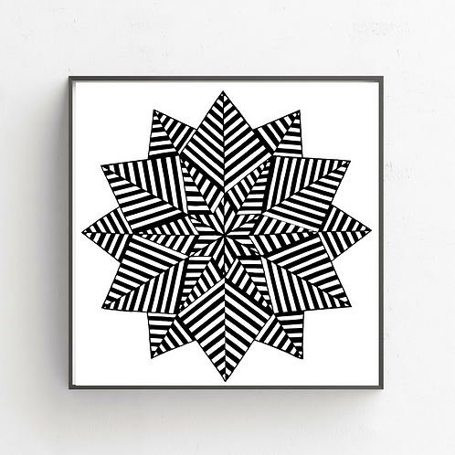 Nested 6 Pointed Stars on Poster
