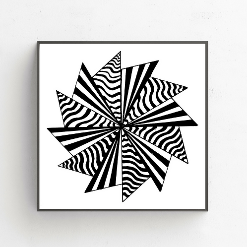12 Pointed Star on Poster