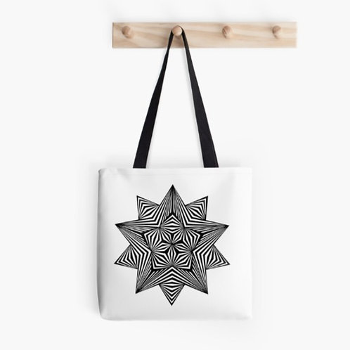 5 Pointed Stars on Tote Bag