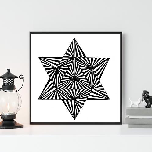 Black and White Op Art Poster - Modern Home Decor - Modern Abstract Art  - Minimalist Art - Geometric Wall Art - Contemporary