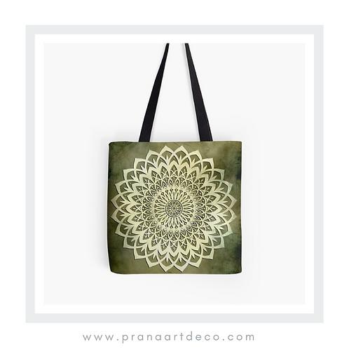 Green Mandala Flower - Tote Bag