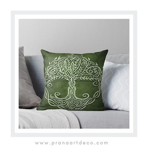 Tree Of Life on Throw Pillow