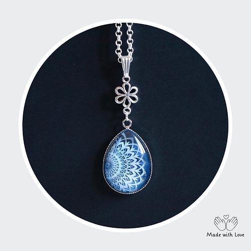 Tear Drop Mandala Flower Necklace