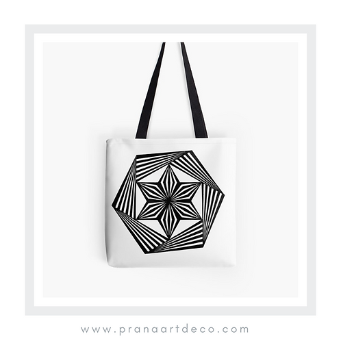 Trippy Hexagon on Tote Bag