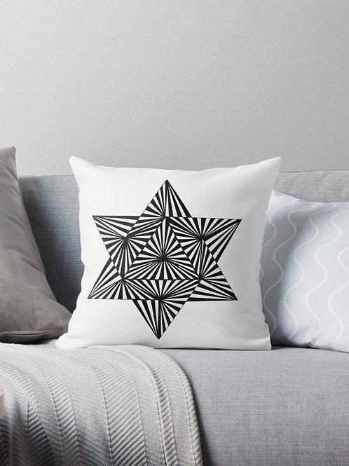 Black & White Op Art Throw Pillow - Decorative Cushion - Modern Home Decor - Geometric Cushion - Optical Illusion art