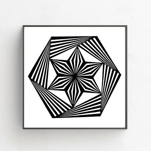Trippy Hexagon on Poster