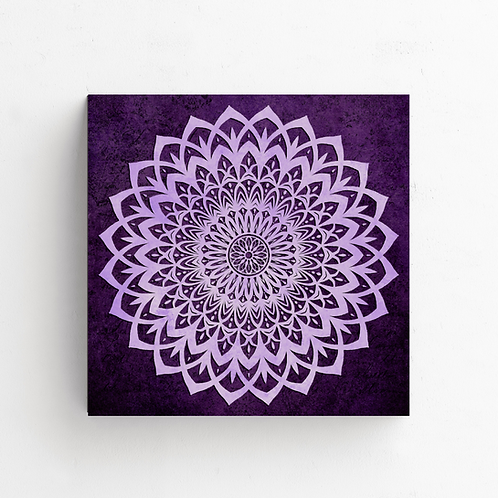 Lilac And Purple Mandala Flower on Poster