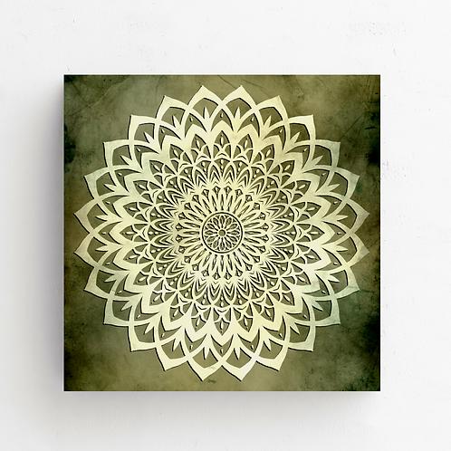 Green Mandala Flower on Poster