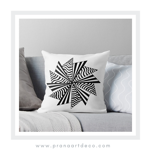 12 Pointed Star on Throw Pillow
