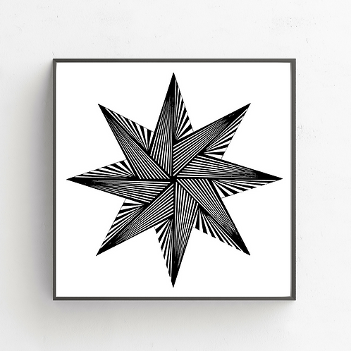 8 Pointed Star on Poster