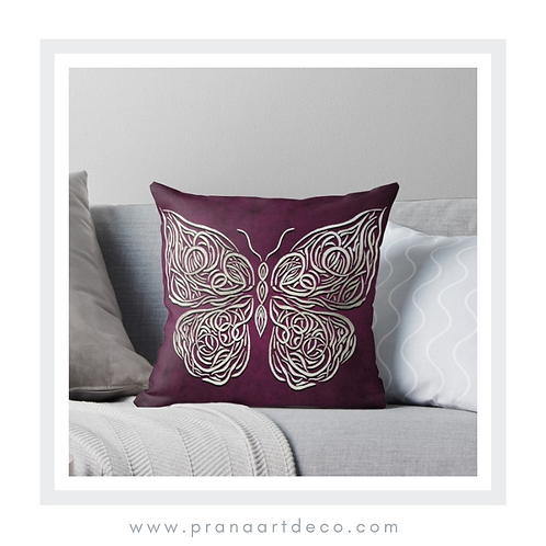 Celtic Butterfly on Throw Pillow