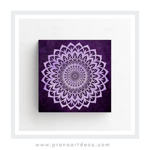 Lilac & Purple -Mandala - Poster -Square