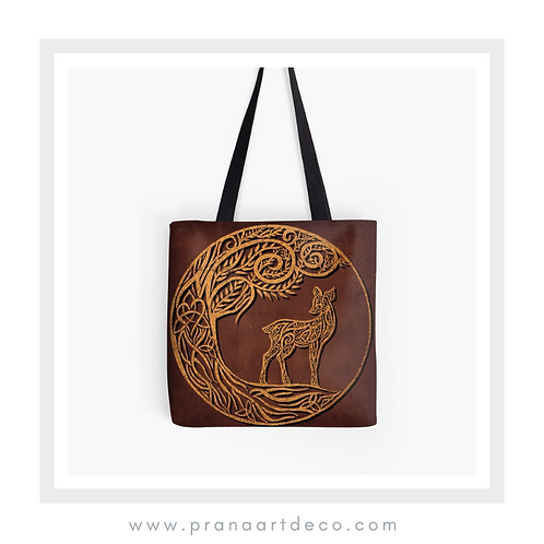 Eilid - Celtic Deer on Tote Bag
