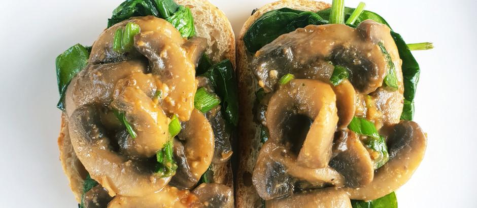 Miso Butter Garlic Mushrooms