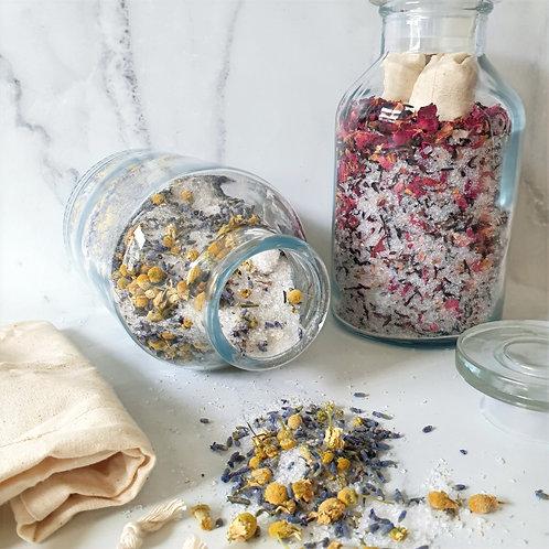 Organic Rose and Hibiscus Herbal Bath Tonic