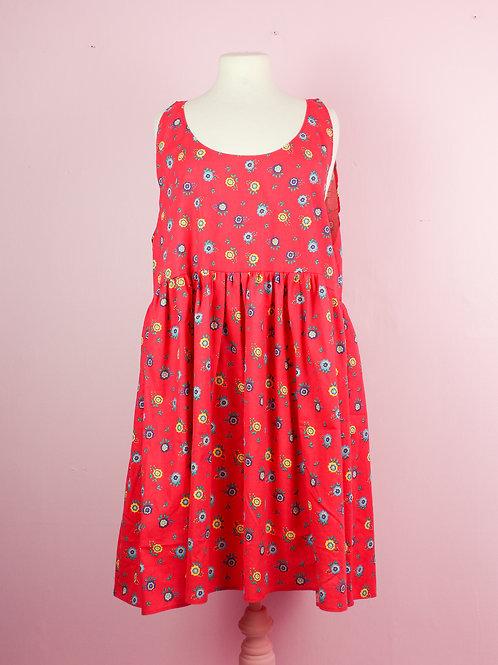 Flower girl - POP ON PINAFORE DRESS - L/XL