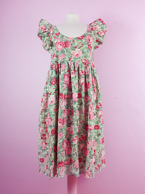 Rosie - Frilly POP ON pinafore dress - S/M