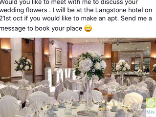 Wedding flowers at The Langstone Hotel