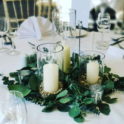 cylinder vases with candles