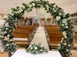 circle of love arch in a ceremony