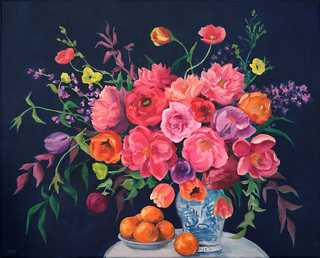 Alice - Chinoiserie bouquet and oranges