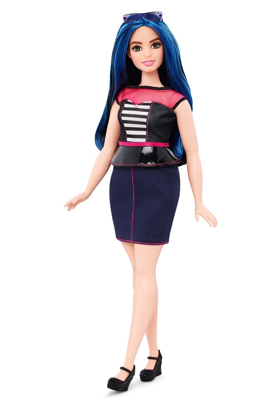 Curvy Barbie Blue Hair