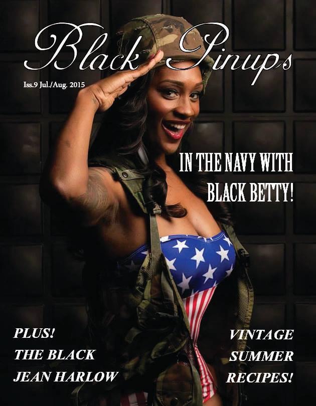 Black Pin Up Patriotic