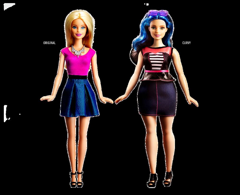 Barbie Original vs Curvy Comparison
