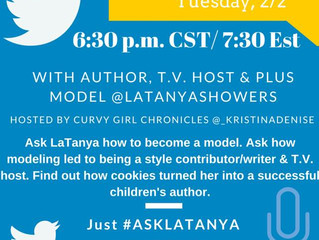 Chat With Us - Twitter Chat with Model and Author LaTanya Showers