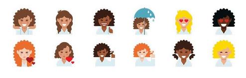 Curly Hair Emoji