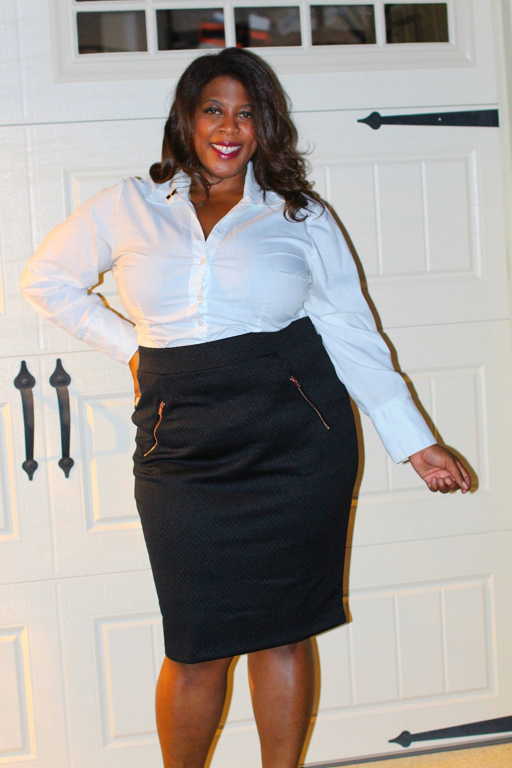 Ashley Nell Tipton's quilted pencil skirt Boutique + JCPenny
