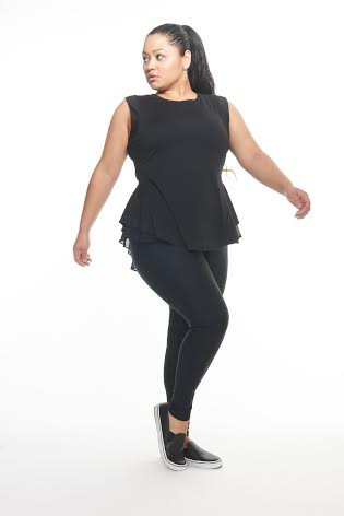 Plus Size Fitness peplum work out top