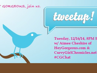 Hey Gorgeous, Let's Tweet Up!  Tonight 8PM  #CGCHAT