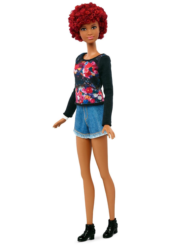 Tall African American Black Barbie Natural Hair