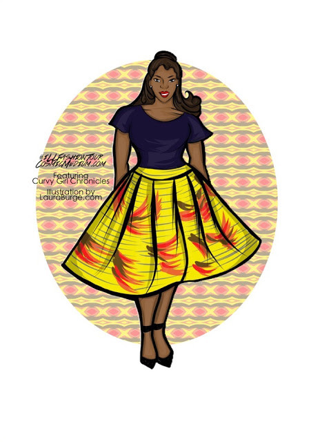 Plus Size Illustration, Curvy girl