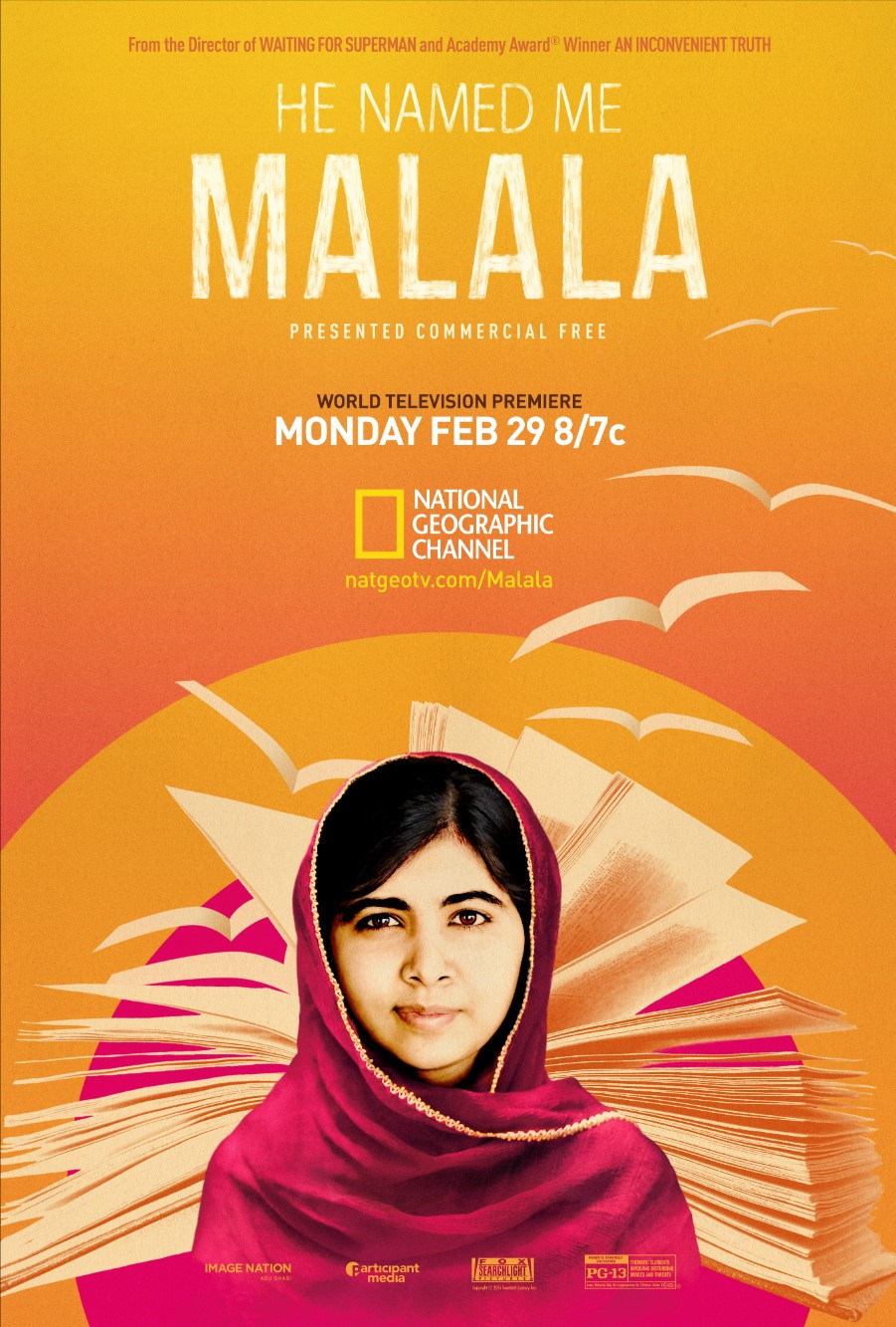 He Named Me Malala National Geographic Poster